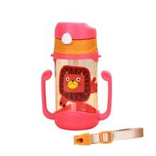 Детские Обучающие бутылки для питьевой воды, чашки для кормления с ручками и ремнем для новорожденных детей, милая мультяшная непротекающая чашка