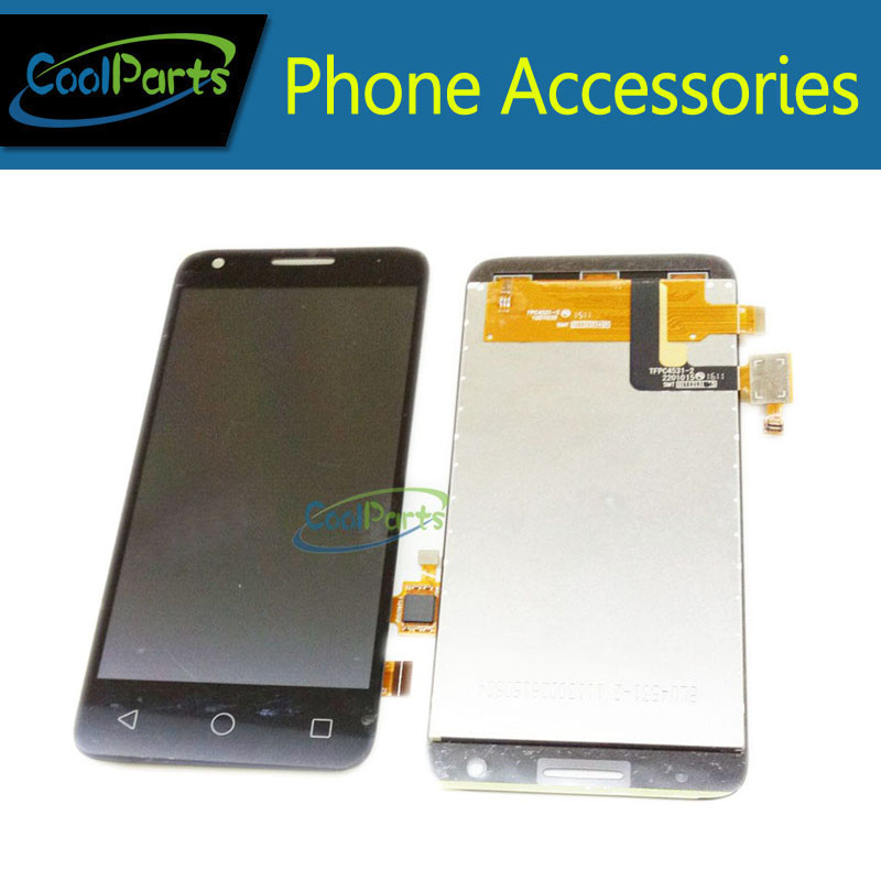 Black color For Alcatel One Touch OT5017 5017 5017E 5017A 5017B 5017D OT5019 LCD Display and