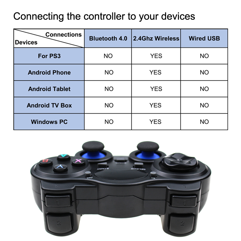 2 4 G Controller Gamepad Android Wireless Joystick Joypad with OTG Converter For PS3 Smart Phone