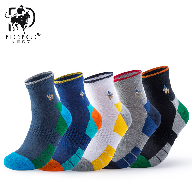 High Quality Brand PIER POLO   Socks   Male Crew Cotton Men's   Socks   Men Solid Casual Business Dress   Socks   MBrand Business Male   Socks