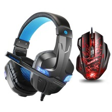 Купить с кэшбэком SP860 PS4 Headset Bass Gaming Headphones Game Earphones Casque with Mic Led Light for PS4 PC Mobile Phone New Xbox One Tablet