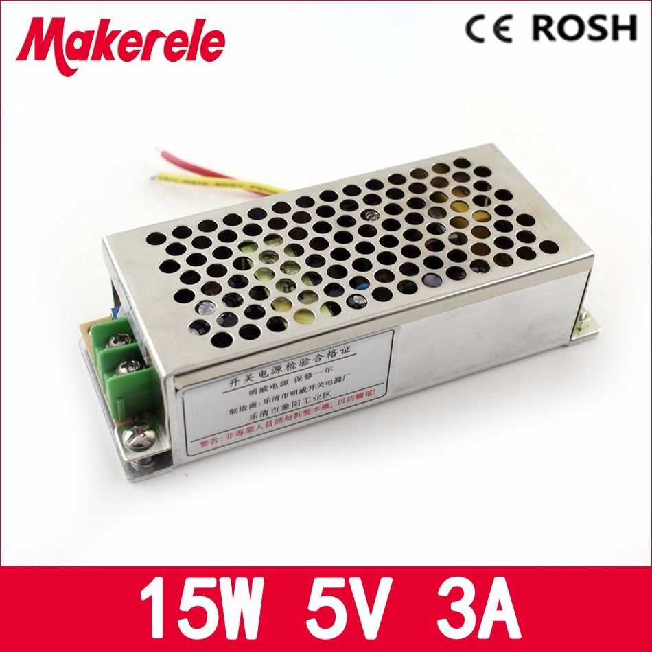 Small Volume 15w 5v 3a Ms-15-5 110V 220V ac to 5V dc High Relibility auto Mini Size switching power supply/ SMPS nes 15 48 ac dc mini size 15w led power supply