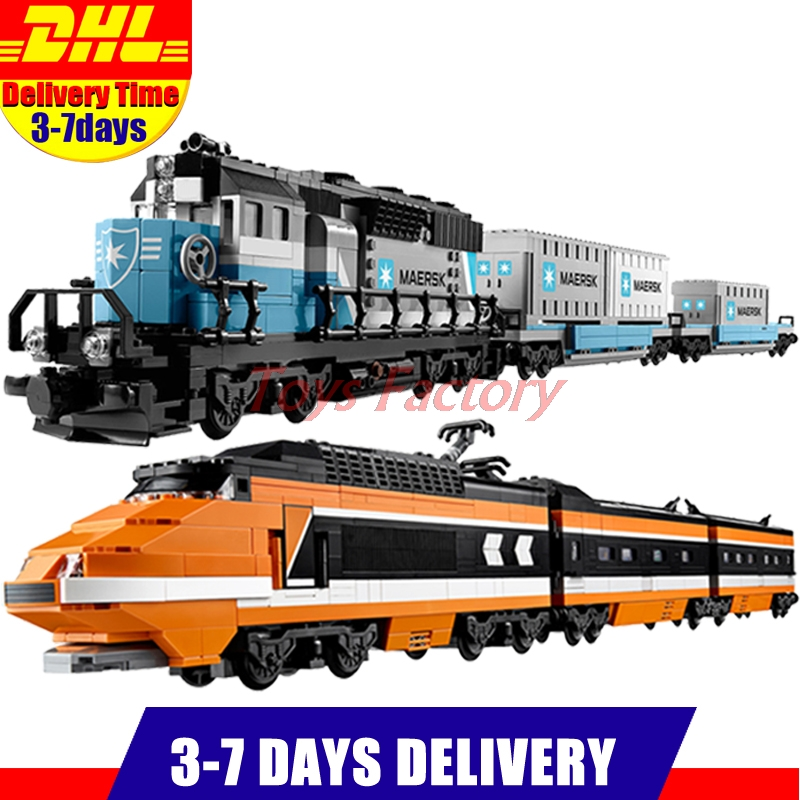 LEPIN 21006 Maersk Train  Expert +LEPIN 21007 The Horizon Express Train Model Building Blocks Bricks Set Clone 10233 10219