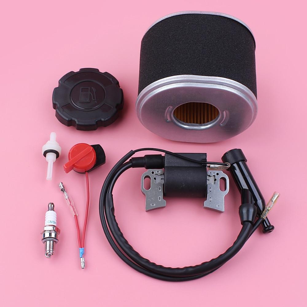 цена на Ignition Coil Air Fuel Filter Tank Cap Stop Switch Spark Plug Kit For Honda GX390 13HP GX340 11HP GX 390 340 Lawn Mower Part