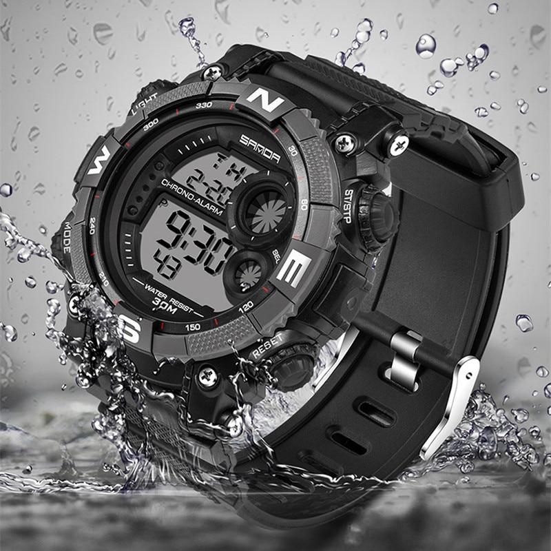 SANDA Brand Children Watches LED Digital Multifunctional Waterproof Wristwatches Outdoor Sports Watches For Kids Boy Girls