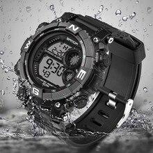 SANDA Brand Children Watches LED Digital Multifunctional Waterproof Wristwatches