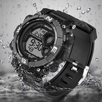 SANDA Brand Children Watches LED Digital Multifunctional Waterproof Wristwatches Outdoor Sports Watches for Kids Boy Girls