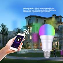 7W RGBW Wifi RGB LED Lamp Bulb Color Light for Smart Home lampada E27/ B22 LED Bulb(China)