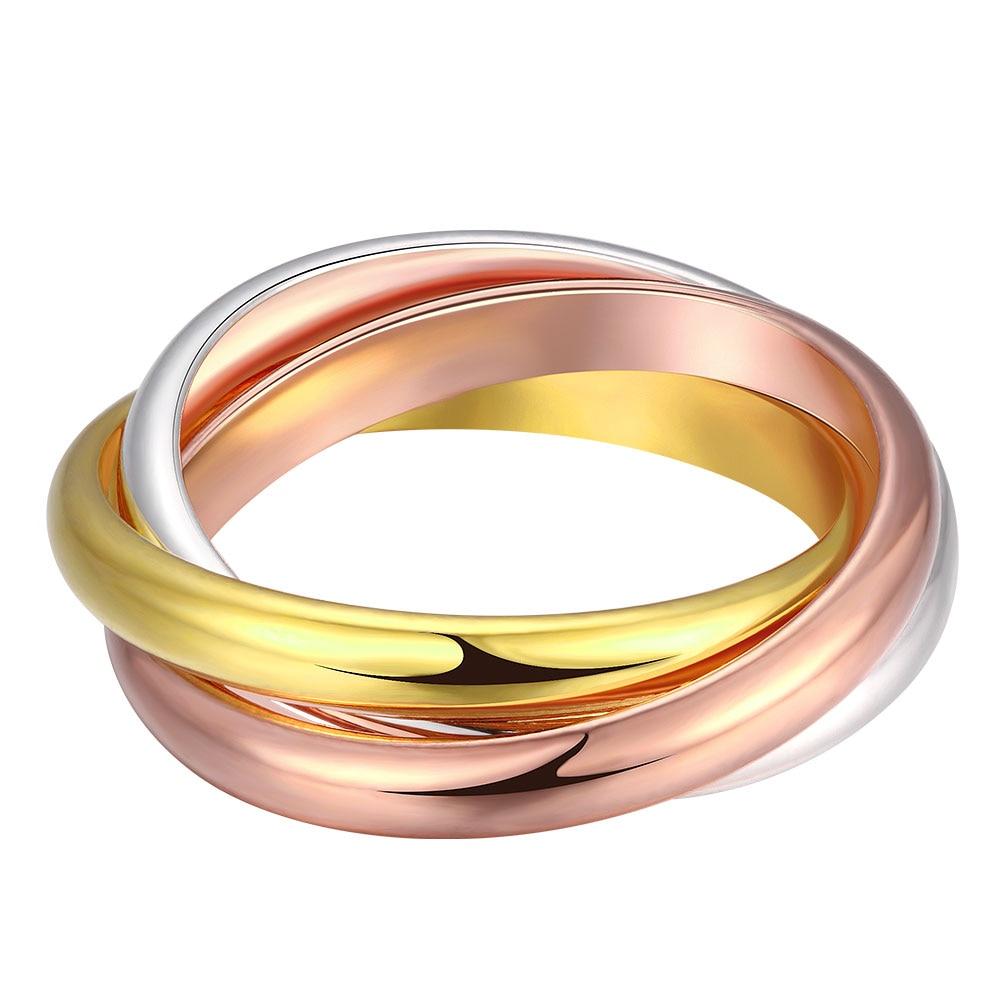 gold triple band thumb ring