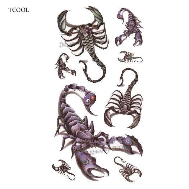 HXMAN Scorpion Women Temporary Tattoo Sticker Tattoos for Men ...