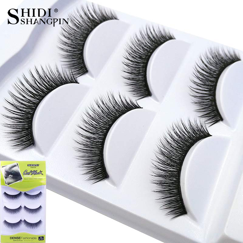 3 Pairs handmade black long 3d lashes eyelash extension for professionals luxury makeup beauty false eyelashes #107