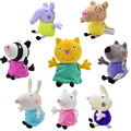 Genuine Peppa Pig Friends Rebecca Suzy Sheep Candy Danny Pedro Emily Plush Toys Moana Early Learning New Year Gifts 8Pcs/set