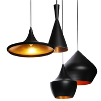 ABC(Tall,Fat and Wide) Aluminum Shade Fixtures Chandelier Home Modern Shade Ceiling Hat Beat Light Pendant Lamp 3 Pack