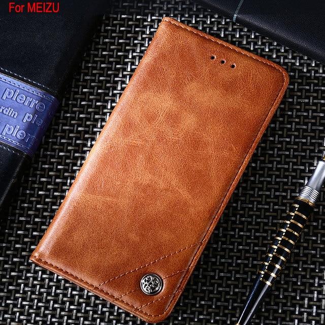 Case for Meizu MX4 MX5 MX6 Pro 5 M2 M3 M5 M5C M6 M6S M8 note mini lite U10 Luxury Leather Flip cover case funda Without magnets