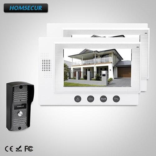 HOMSECUR 7 Видеодомофон безопасности + Металлический Корпус Камера для Дома/Квартиры: TC031 + TM701-W ...