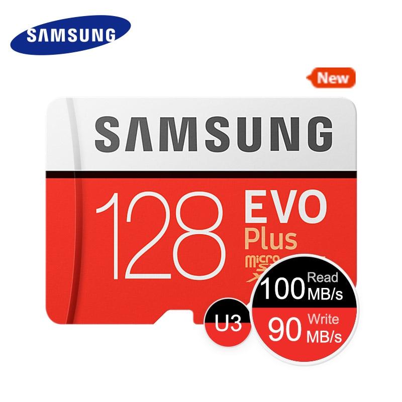 SAMSUNG New Micro SD Memory Card EVO+ 128GB 64GB 32GB 95MB/s 100MB/s C10 SDHC SDXC U1 U3 TF Card 64G 32G 100% Original ssk scrm 060 multi in one usb 2 0 card reader for sd ms micro sd tf white