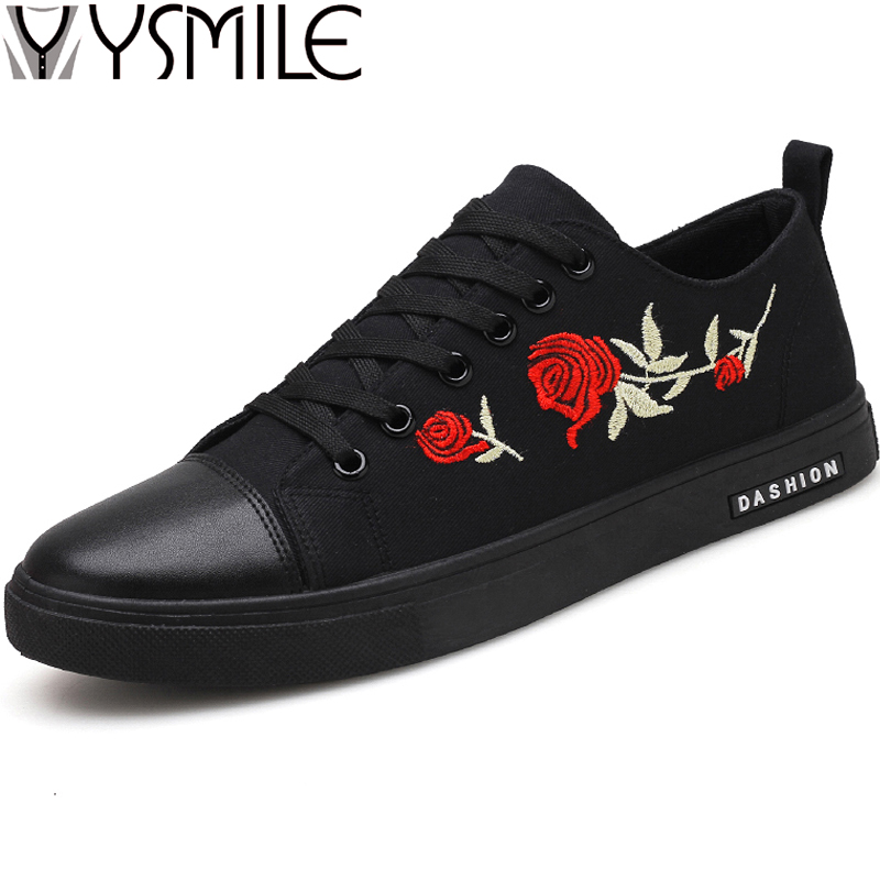 2018 High Quality Fashion Canvas Men Casual Shoes Black Male Designer Shoes Sneakers Lace Up Mens Walking Shoes Flats Footwear
