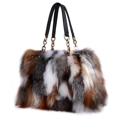 High End Las Real Fox Fur Bag Women Tote Bags Genuine Leather Design Shoulder Cowhide Handbag Fashion Crossbod In From