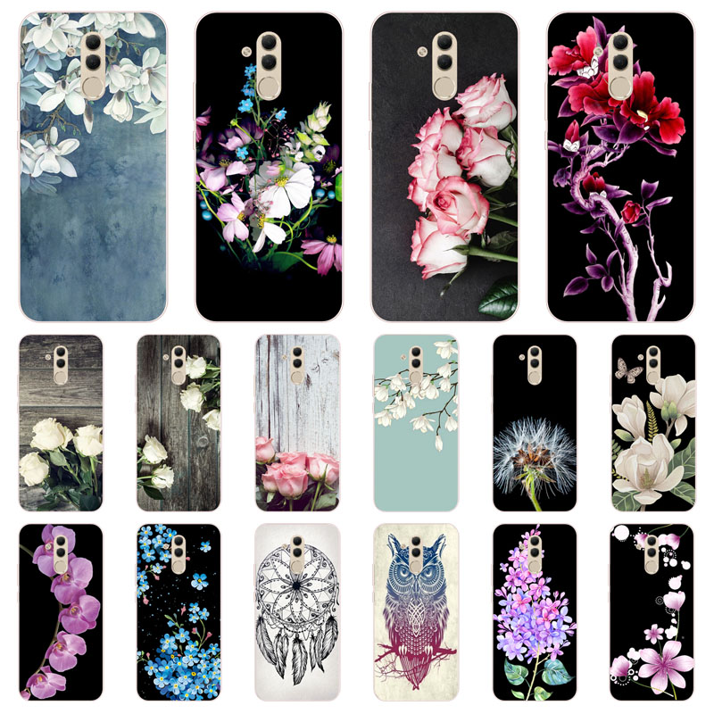 best cheap a460e a108a Huawei Mate 20 Lite Case,Silicon Popular Flowers Painting Soft TPU Back  Cover For Huawei Mate 20 Lite Protect Phone Cases Shell
