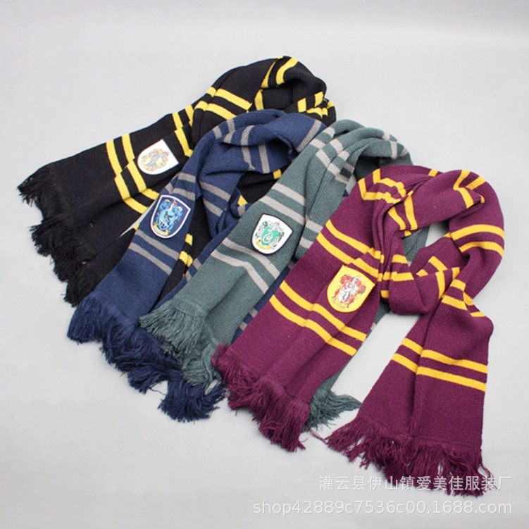 my  list Harri Potter Scarf Scarves Gryffindor/Slytherin/Hufflepuff/Ravenclaw Scarf Scarves Cosplay Costumes Halloween