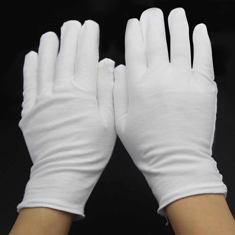 f306648b60 1Pair New White Cotton Formal Gloves Work for Catering band Parades  Inspection Magician Police Etc Fast Shipping 70