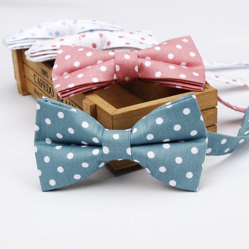 Fashion Style Luxury Men's Adjustable Classic Polka Dot 100% Cotton Bowtie Tuxedo Neckties Bow Tie Holiday Party Gift Man Boy Accessories