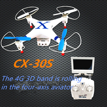 Professional 5.8G FPV RC drone CX30S 2.4GHz 4CH 6-Axis Gyro remote control rc Quadcopter With HD Camera With LED light 3D roll
