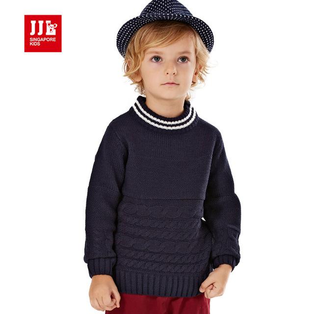 Meninos camisola crianças camisola do inverno 2015 novo colarinho rosqueado para meninos crianças camisola camisa camisola básica tamanho 4-11y