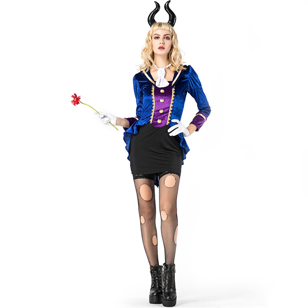 Cosplay adult women bar sexy uniform cow demon play costume halloween carnival party costume adult game uniform