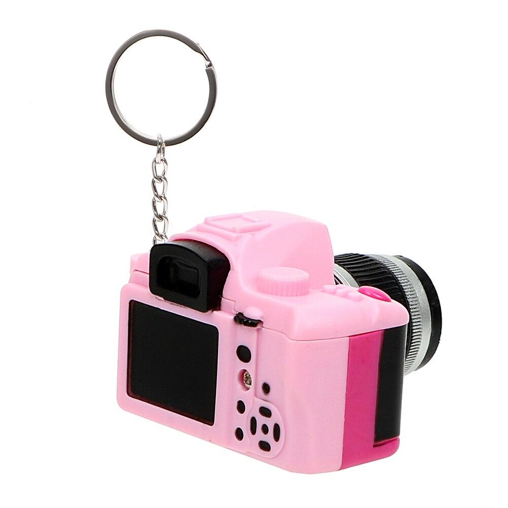 Auto Accessoires Flash Light & Buzzle Sleutelhanger Auto Styling Mini Camera Sleutelhanger Auto Ornament Grappig Speelgoed