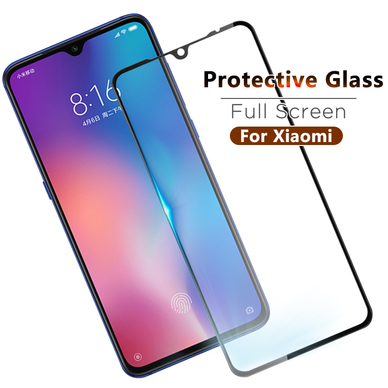 Full Cover Tempered Glass For Xiaomi Redmi Note 7 6 3 Pro 6A S2 7A K20 For Xiaomi Mi A3 Mi 9 CC9e mi9se 8 A2 Lite Max3 Pro Mi9T(China)