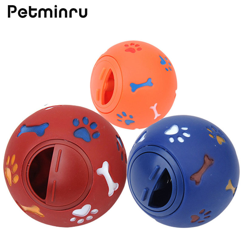 Petminru Transparent Teeth To Bite Pet Dog Toys Leakage Food Ball Natural Imported Rubber Balls Toy