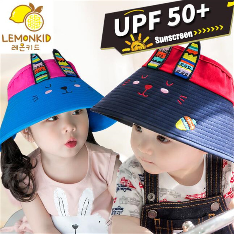 a0a9bf48 200p Kids Foldable Sun Hat Big Hat Eaves UPF50+ Anti UV Boy&Girl Sunscreen  Shade Embroidery Cartoon Children Empty Top Visor Cap-in Hats & Caps from  Mother ...
