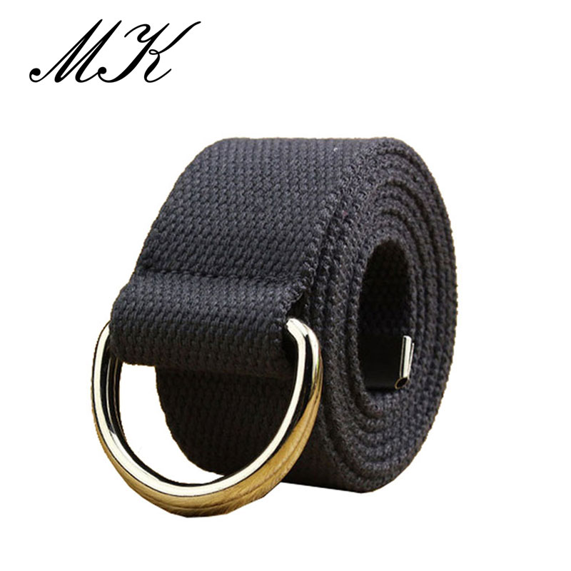 MaiKun Canvas Belts for Men Tactical Belt Metal Buckle Designer Casual
