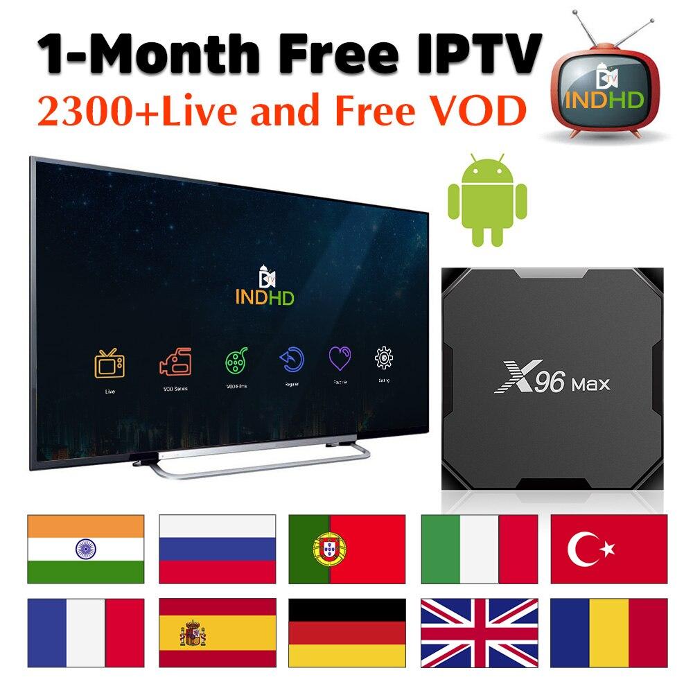 India Italy IPTV X96 Max 1 month Free IP TV Turkey Italian Canada IPTV Subscription TV Box Ex Yu IPTV Germany India IP TV Italy-in Set-top Boxes from Consumer Electronics