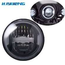 "7 inch Reflector LED Headlight For Motorcycle Accessories 7"" White DRL Amber Turn Signal Headlights For Jeep Suzuki Samurai(China)"