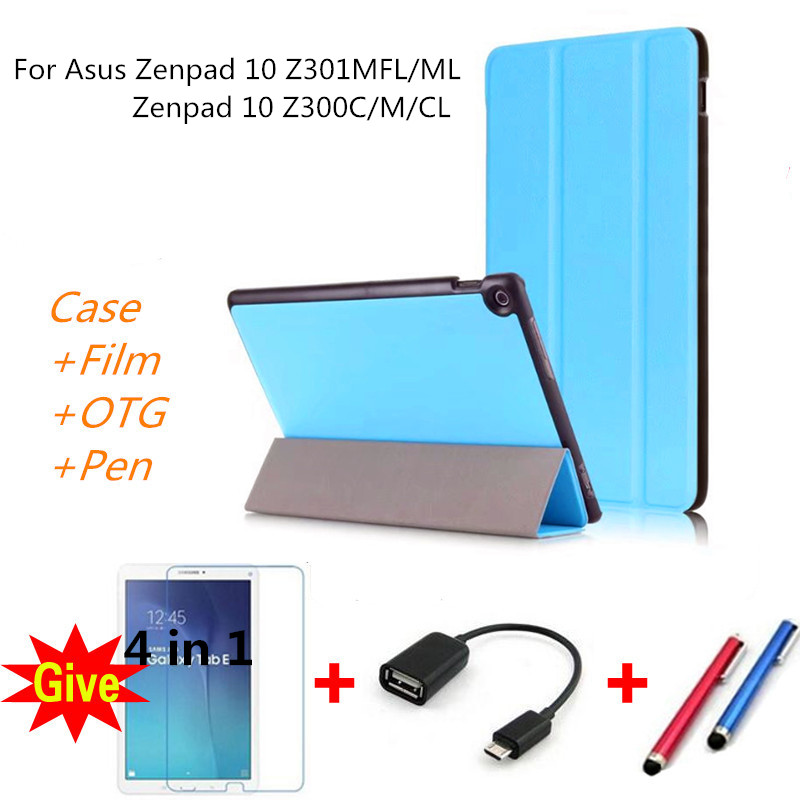 Caso para 2017 Zenpad 10 Z301MFL Z301ML Caso Tablet Couro PU para ASUS Zenpad 10 Z301MFL Z301ML Z300M Z300CL tablet Casos Aleta