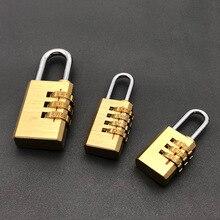 1 шт. высококачественный замок однотонный латунный замок Цифра комбинация пароль секретный код багажный шкафчик небольшой пароль бегун замок