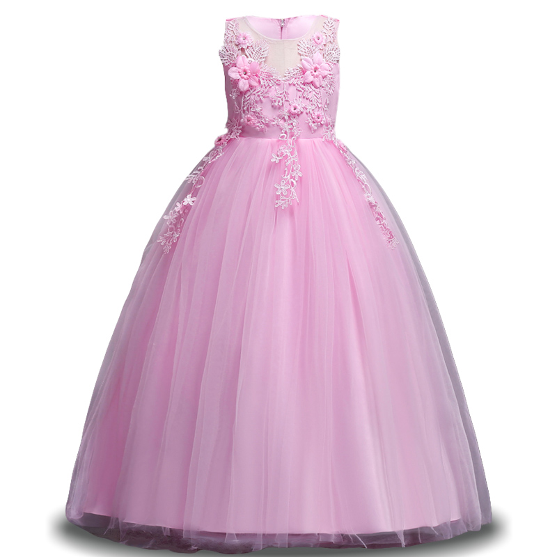 Lace Girl Dress Wedding Party Dresses For Girls Bridesmaid Baby Kids ...