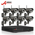 ANRAN Plug And Play 8CH NVR WIFI CCTV System 3TB HDD P2P 1080P H.264 HD Zoom 2.8mm-12mm Lens Home Security Wireless IP Camera