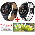 7in1 for Original Xiaomi Huami Amazfit 2 Stratos pace Strap Leather smartwatch watch Band +Siicone soft silicone wristband belt
