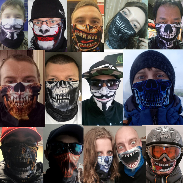 Face Shield Women Bandana scarf ciclismo Fishing Mask scarfs Bike Neck Warmer Neck Gaiter Tube cycling Sport Headwear For men 5