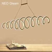 NEO Gleam Double Glow Modern Led Pendant Lights Kitchen Dinging Room Fixtures Aluminum High Brightness Led