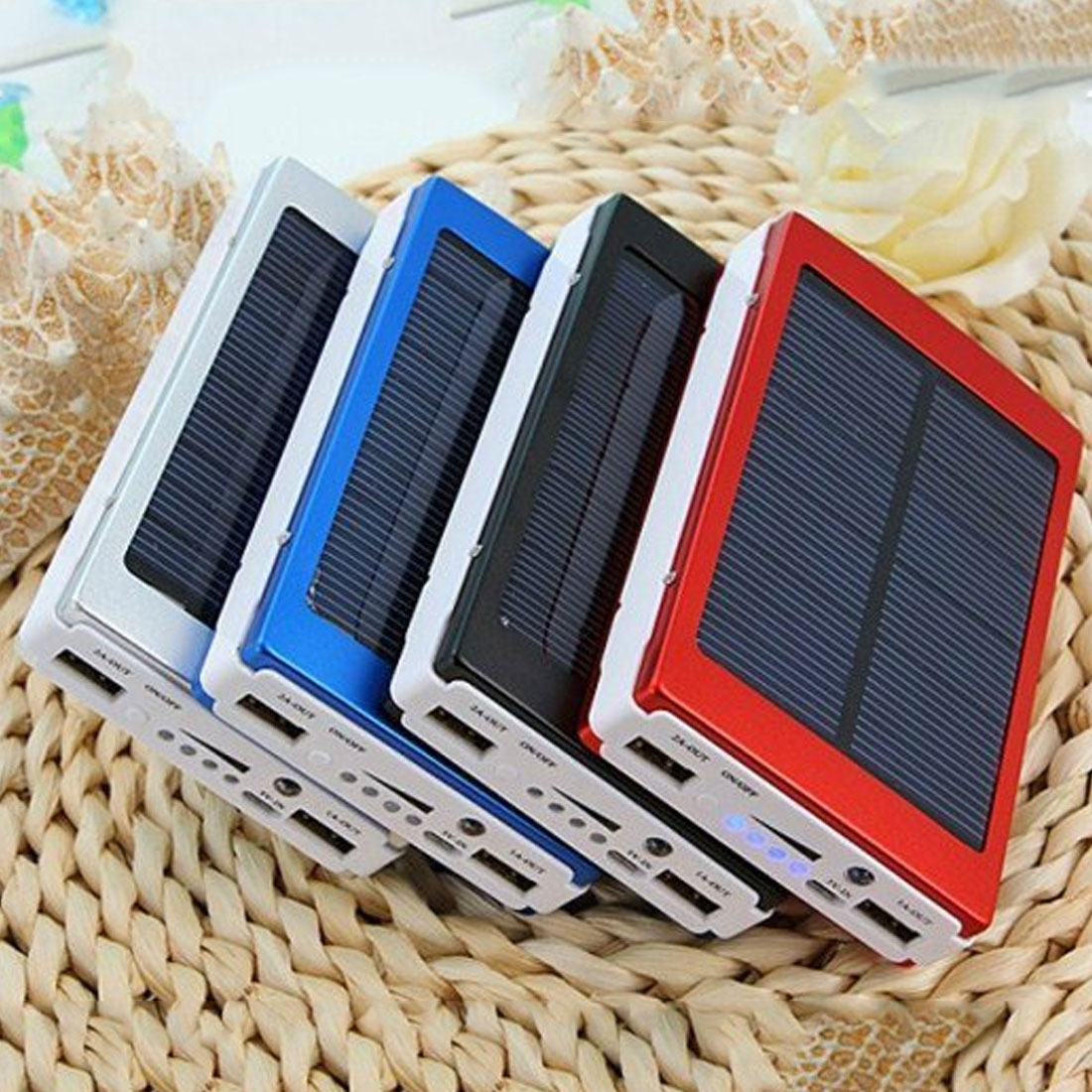 30000mAh Long Lasting Solar Battery Portable Charger Dual Output USB External Battery High Capacity For Mobile Phone Solar