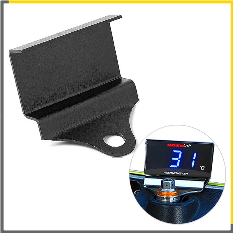 Motorcycle Thermometer Voltmeter  Black Holder Universal Instrument Water Temperature Table Mounting Bracket For Tachometer