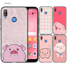 Silicone TPU Case Cover for Huawei P20 P10 P9 P8 Lite Pro 2017 P Smart+ 2019 Nova 3i 3E Phone Soft Shell Funny Cute Lovely Pig(China)