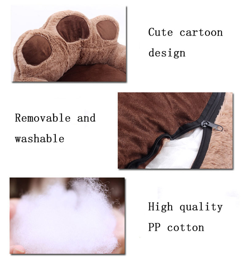CAWAYI KENNEL Paw Shape Pet Dog Cat Bed Sofa Nest Soft PP Cotton Dog Warm Kennel Bed House Pet Mats Cushion Removable D1065 7