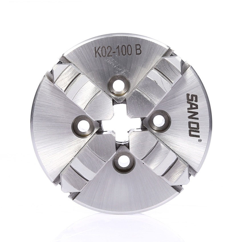 100mm 4 Jaw Lathe Chuck Self-Centering 4'' Four-jaw Manual Chuck K02-100B for CNC Woodworking Lathe 4 jaw lathe chuck m8 four jaw independent chuck cnc k72 100 for cnc clathe fixture new