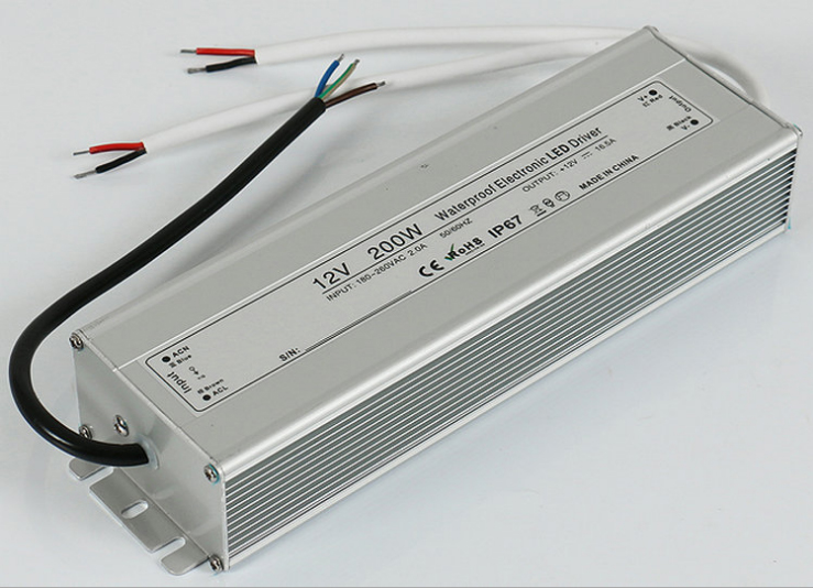 best price 12V 200W Waterproof Electronic LED Driver Power Supply Transformer 110V-260V IP67 outdoor power 200w waterproof transformer ip67 ac110v
