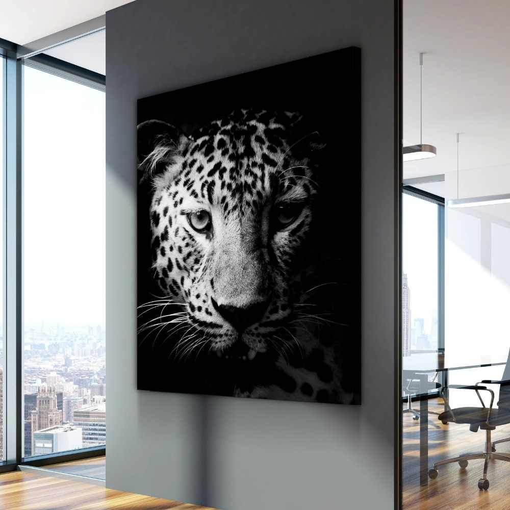 Nordic Canvas Painting Black White Leopard Animal Poster Cuadros Paintings on Canvas Wall Art for Home Decorations Wall Decor